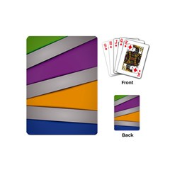 Colorful Geometry Shapes Line Green Grey Pirple Yellow Blue Playing Cards (Mini)