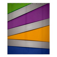 Colorful Geometry Shapes Line Green Grey Pirple Yellow Blue Shower Curtain 60  x 72  (Medium)