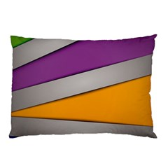 Colorful Geometry Shapes Line Green Grey Pirple Yellow Blue Pillow Case (Two Sides)