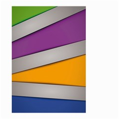 Colorful Geometry Shapes Line Green Grey Pirple Yellow Blue Small Garden Flag (Two Sides)