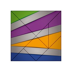 Colorful Geometry Shapes Line Green Grey Pirple Yellow Blue Acrylic Tangram Puzzle (4  x 4 )