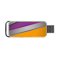 Colorful Geometry Shapes Line Green Grey Pirple Yellow Blue Portable USB Flash (One Side)