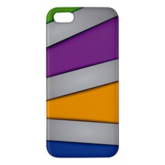 Colorful Geometry Shapes Line Green Grey Pirple Yellow Blue Apple iPhone 5 Premium Hardshell Case