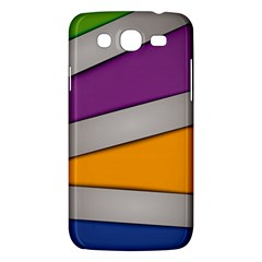 Colorful Geometry Shapes Line Green Grey Pirple Yellow Blue Samsung Galaxy Mega 5 8 I9152 Hardshell Case
