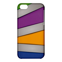 Colorful Geometry Shapes Line Green Grey Pirple Yellow Blue Apple iPhone 5C Hardshell Case