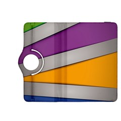 Colorful Geometry Shapes Line Green Grey Pirple Yellow Blue Kindle Fire HDX 8.9  Flip 360 Case