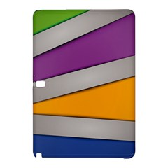 Colorful Geometry Shapes Line Green Grey Pirple Yellow Blue Samsung Galaxy Tab Pro 10.1 Hardshell Case