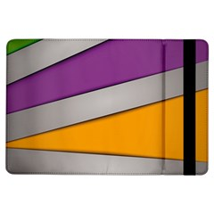 Colorful Geometry Shapes Line Green Grey Pirple Yellow Blue iPad Air Flip