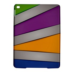 Colorful Geometry Shapes Line Green Grey Pirple Yellow Blue iPad Air 2 Hardshell Cases