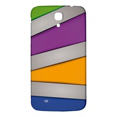 Colorful Geometry Shapes Line Green Grey Pirple Yellow Blue Samsung Galaxy Mega I9200 Hardshell Back Case