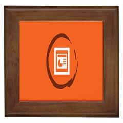 Circles Orange Framed Tiles