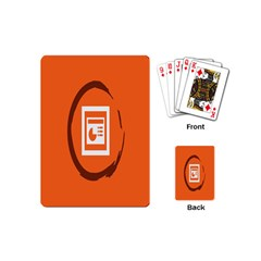 Circles Orange Playing Cards (Mini)