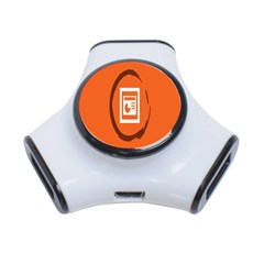 Circles Orange 3-Port USB Hub