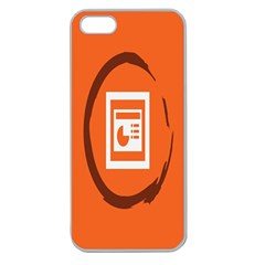 Circles Orange Apple Seamless iPhone 5 Case (Clear)
