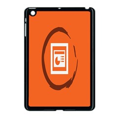 Circles Orange Apple iPad Mini Case (Black)