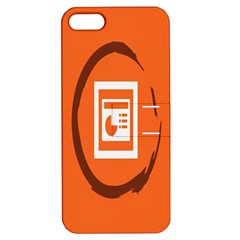 Circles Orange Apple iPhone 5 Hardshell Case with Stand