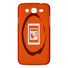 Circles Orange Samsung Galaxy Mega 5.8 I9152 Hardshell Case