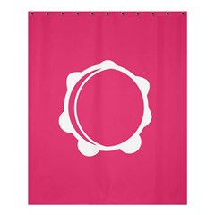 Circle White Pink Shower Curtain 60  x 72  (Medium)