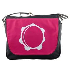 Circle White Pink Messenger Bags