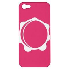 Circle White Pink Apple iPhone 5 Hardshell Case