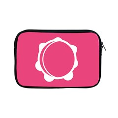 Circle White Pink Apple iPad Mini Zipper Cases
