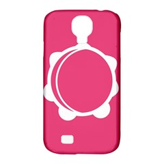 Circle White Pink Samsung Galaxy S4 Classic Hardshell Case (pc+silicone)