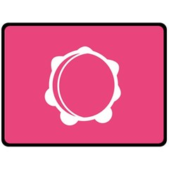 Circle White Pink Double Sided Fleece Blanket (Large)