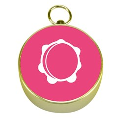 Circle White Pink Gold Compasses
