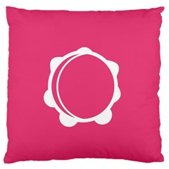 Circle White Pink Standard Flano Cushion Case (two Sides)