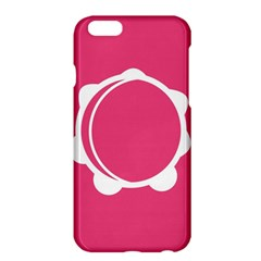 Circle White Pink Apple iPhone 6 Plus/6S Plus Hardshell Case