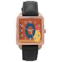 Digital Music Is Described Sound Waves Rose Gold Leather Watch