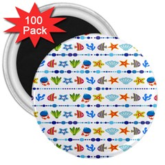 Coral Reef Fish Coral Star 3  Magnets (100 pack)