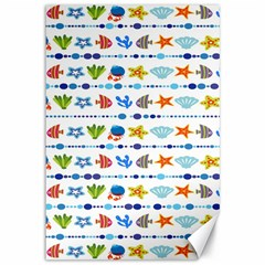 Coral Reef Fish Coral Star Canvas 12  x 18