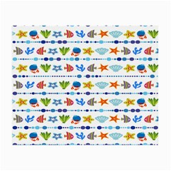 Coral Reef Fish Coral Star Small Glasses Cloth (2-Side)