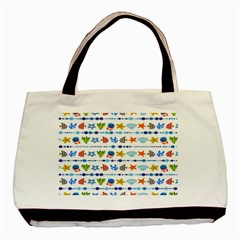 Coral Reef Fish Coral Star Basic Tote Bag (Two Sides)