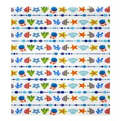Coral Reef Fish Coral Star Shower Curtain 66  x 72  (Large)