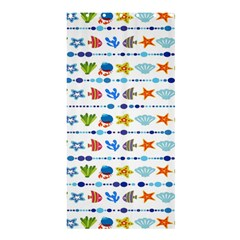 Coral Reef Fish Coral Star Shower Curtain 36  x 72  (Stall)