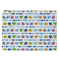 Coral Reef Fish Coral Star Cosmetic Bag (XXL)