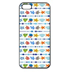 Coral Reef Fish Coral Star Apple iPhone 5 Seamless Case (Black)