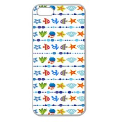 Coral Reef Fish Coral Star Apple Seamless iPhone 5 Case (Clear)