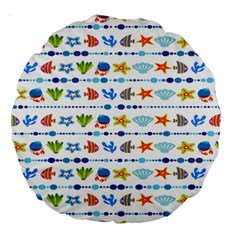 Coral Reef Fish Coral Star Large 18  Premium Round Cushions