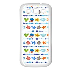 Coral Reef Fish Coral Star Samsung Galaxy S3 Back Case (White)