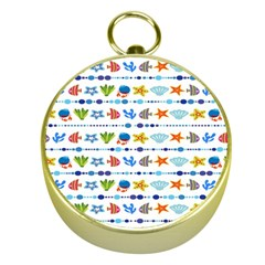 Coral Reef Fish Coral Star Gold Compasses