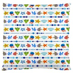 Coral Reef Fish Coral Star Large Flano Cushion Case (two Sides)
