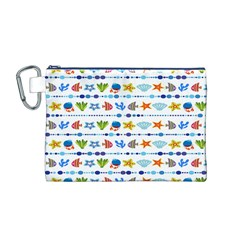 Coral Reef Fish Coral Star Canvas Cosmetic Bag (M)