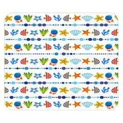 Coral Reef Fish Coral Star Double Sided Flano Blanket (Small)
