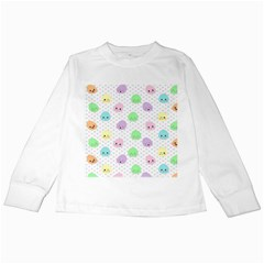 Egg Easter Smile Face Cute Babby Kids Dot Polka Rainbow Kids Long Sleeve T Shirts