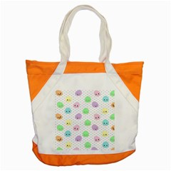 Egg Easter Smile Face Cute Babby Kids Dot Polka Rainbow Accent Tote Bag