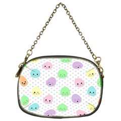 Egg Easter Smile Face Cute Babby Kids Dot Polka Rainbow Chain Purses (Two Sides)