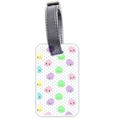 Egg Easter Smile Face Cute Babby Kids Dot Polka Rainbow Luggage Tags (One Side)